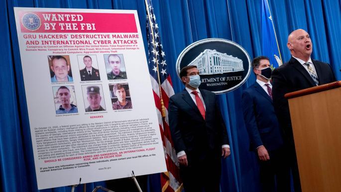 واشنطن تتّهم 6 مسؤولين بالاستخبارات الروسية بالتورّط بهجمات سيبرانية
