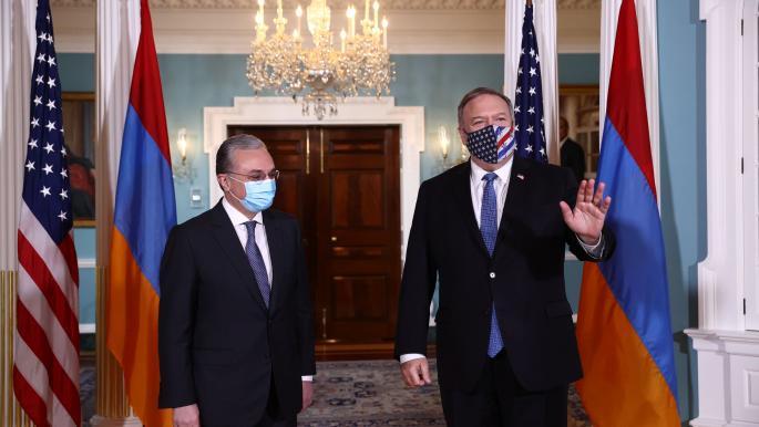 بومبيو يدعو أرمينيا وأذربيجان إلى وقف العنف في كاراباخ