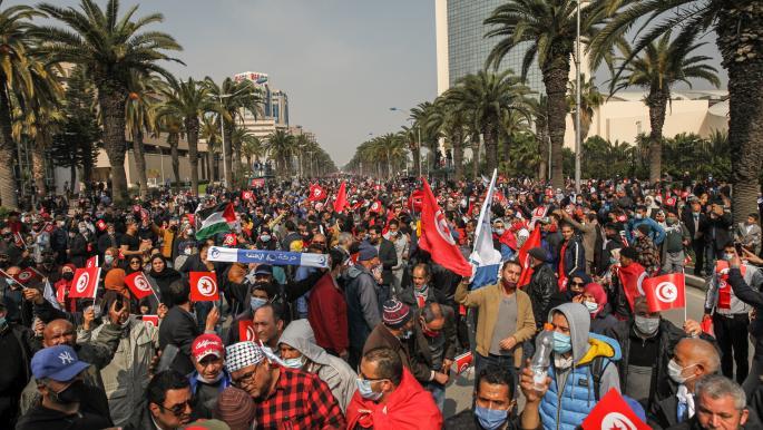 """في رسائل مسيرة """"النهضة"""" التونسية"""