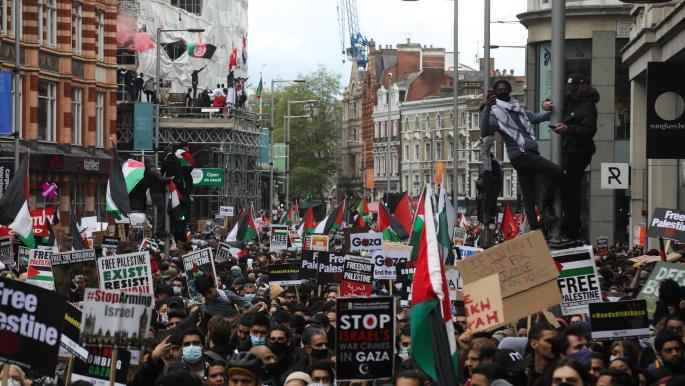تظاهرات حاشدة في لندن ومدن وعواصم أوروبية تنديداً باعتداءات إسرائيل