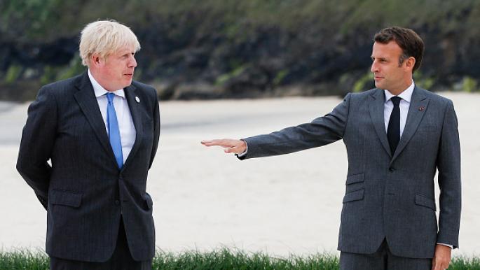 """جونسون يقترح على ماكرون """"إعادة تعاون"""" بين البلدين بعد أزمة الغواصات"""