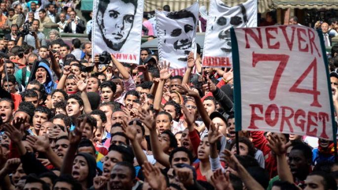 القدس والموت في السجون يحييان روابط الأولتراس في مصر