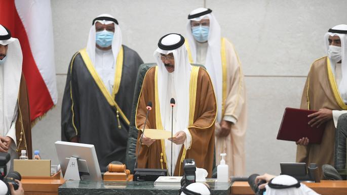أمير الكويت الجديد نواف الصباح يؤدي اليمين الدستورية