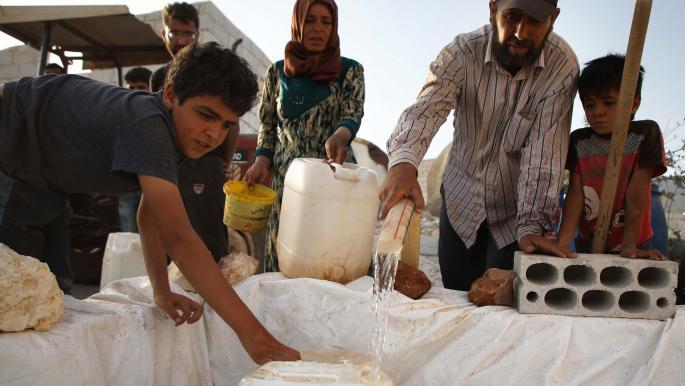 أزمة مياه شرب في إدلب