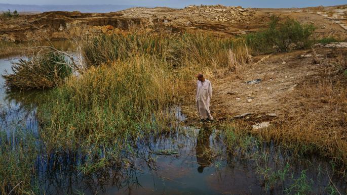 مياه البحر الميت تتراجع في الأردن (ماركوس يام/ Getty)