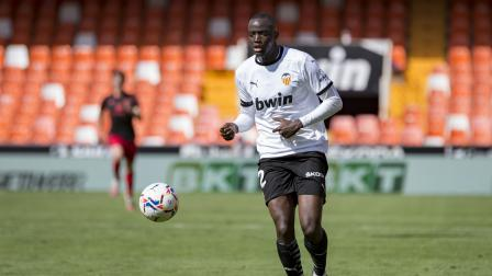 Mouctar Diakhaby of Valencia CF seen in action during the...
